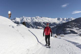 Verwöhnhotel Chesa Monte Schneeschuhwandern©Rene Marschall