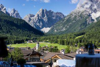 Landschaft beim Berghotel Sexten