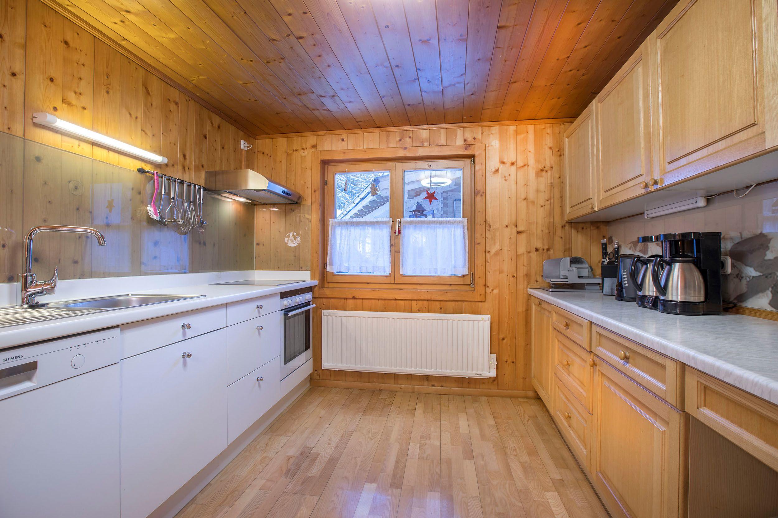 Die geräumige Küche im Bauernhaus