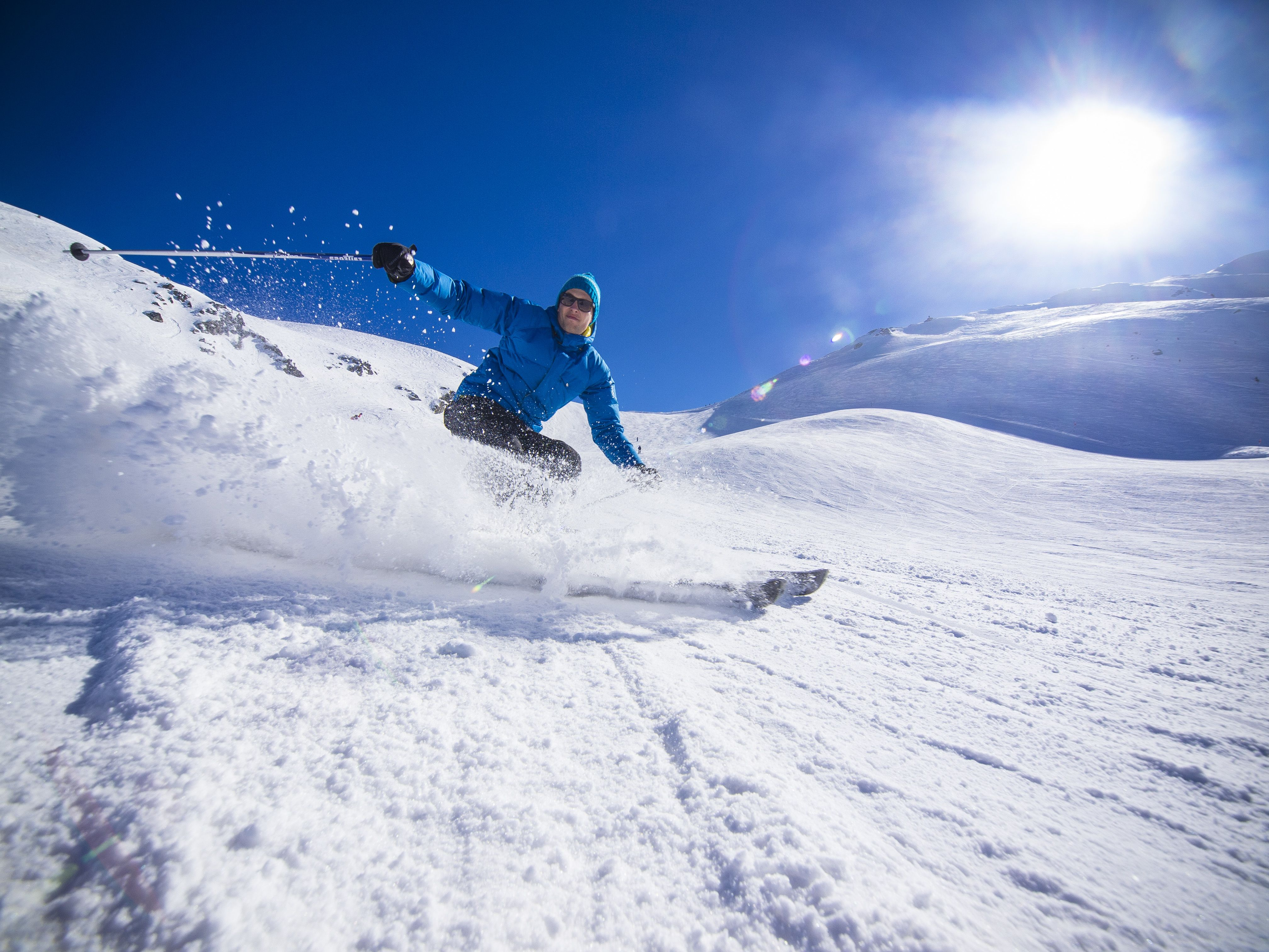 Skifahrer Kronplatz