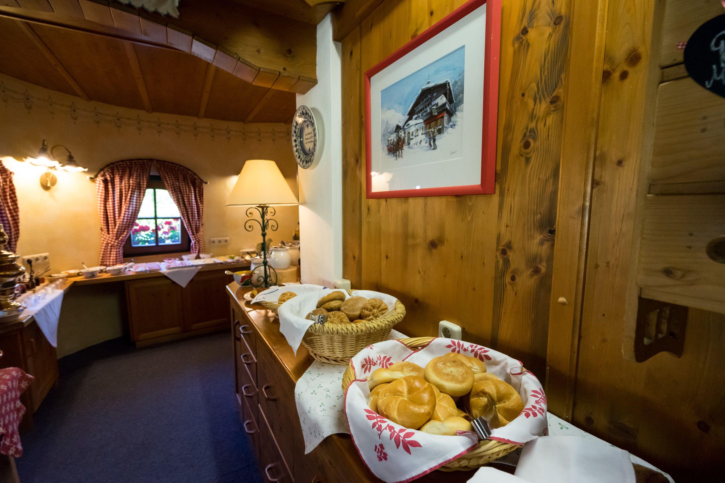 Frühstücksbuffet im Wanderhotel Schafhuber