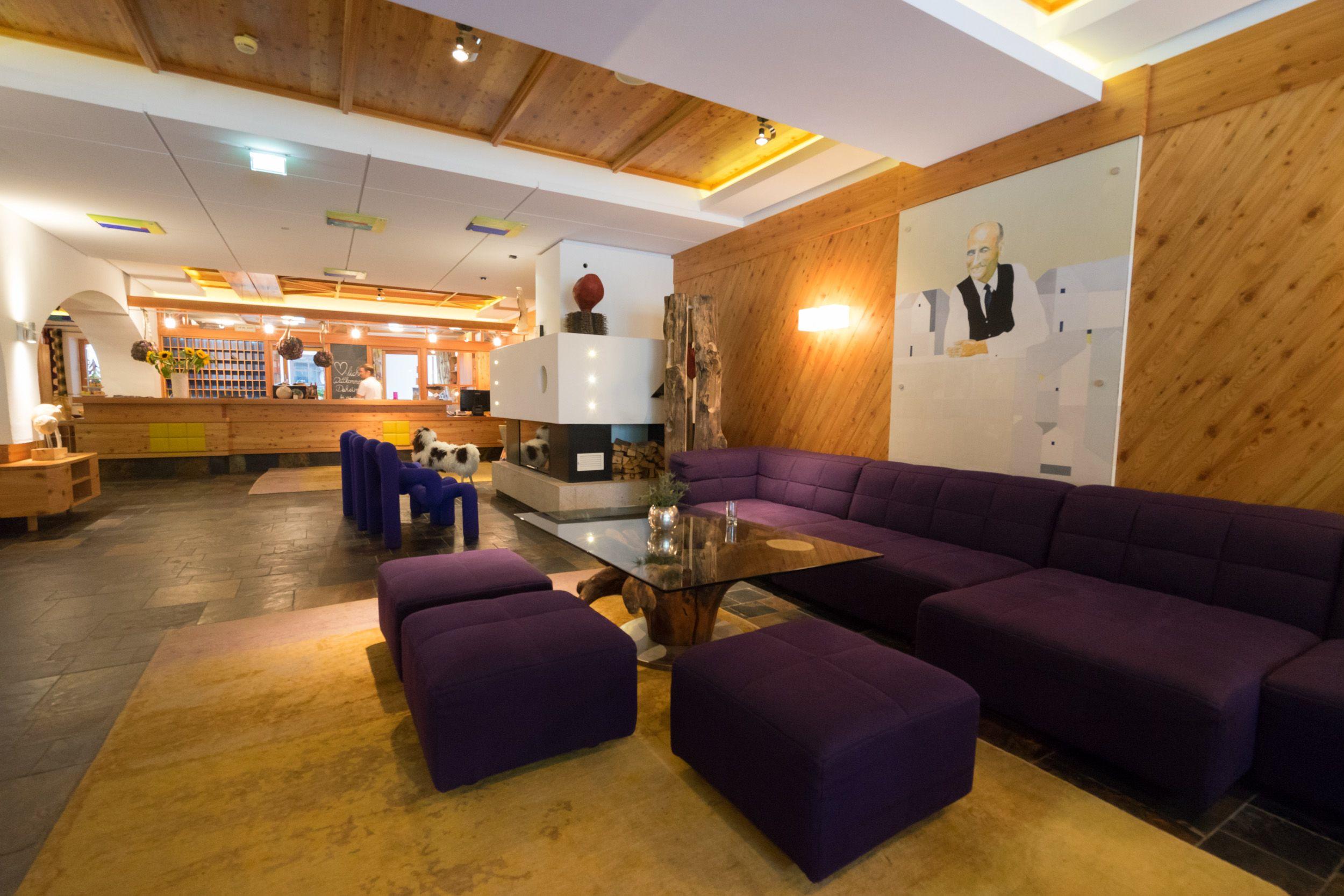 Lobby des Hotels Glemmtalerhof