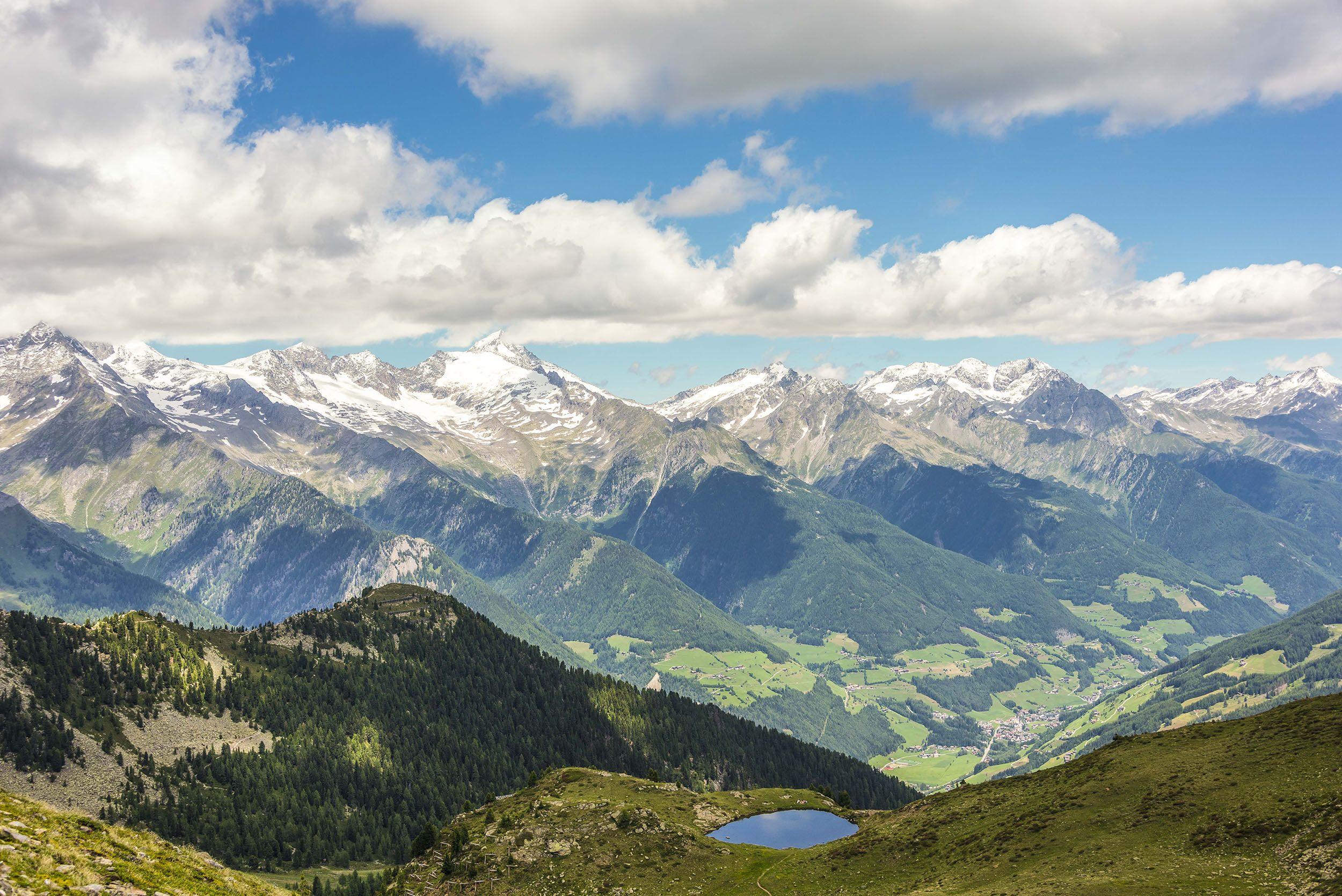 Blick vom Speikboden auf die Südseite der Zillertaler Alpen