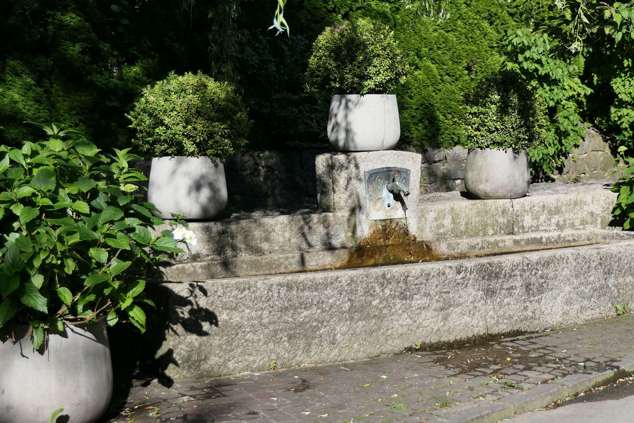 Brunnen im Garten des Hotels Brandstetterhof