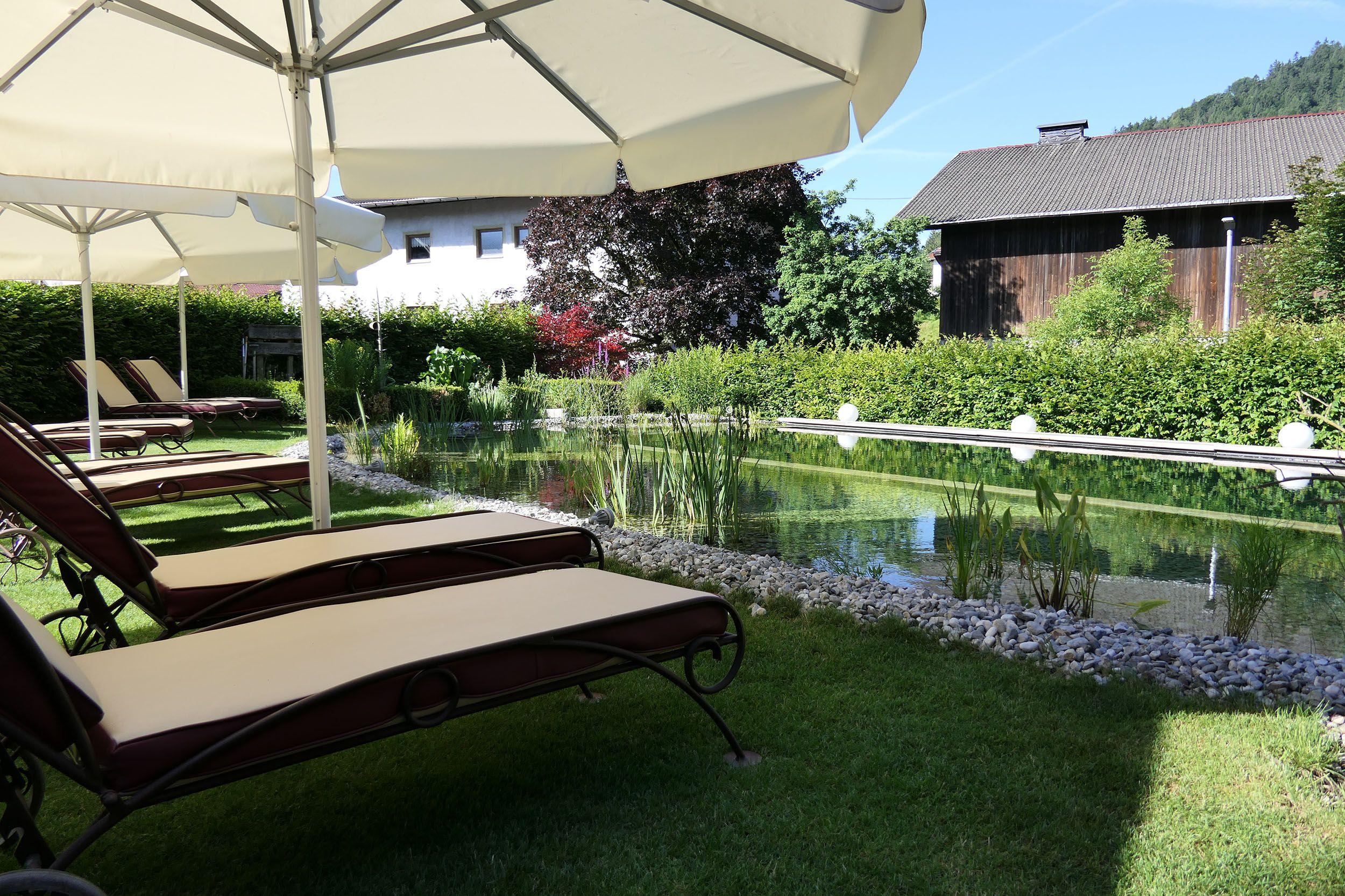 Der Naturbadeteich im Hotel Brandstetterhof