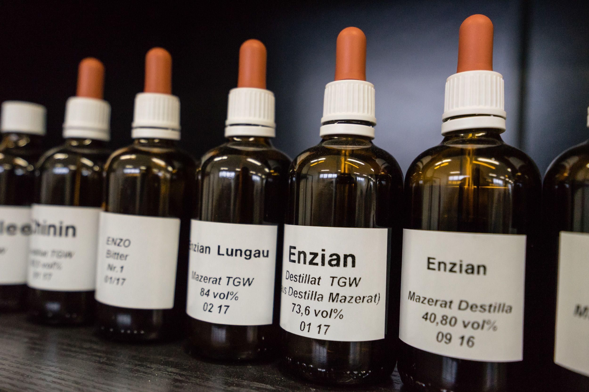 Produkte aus Enzian