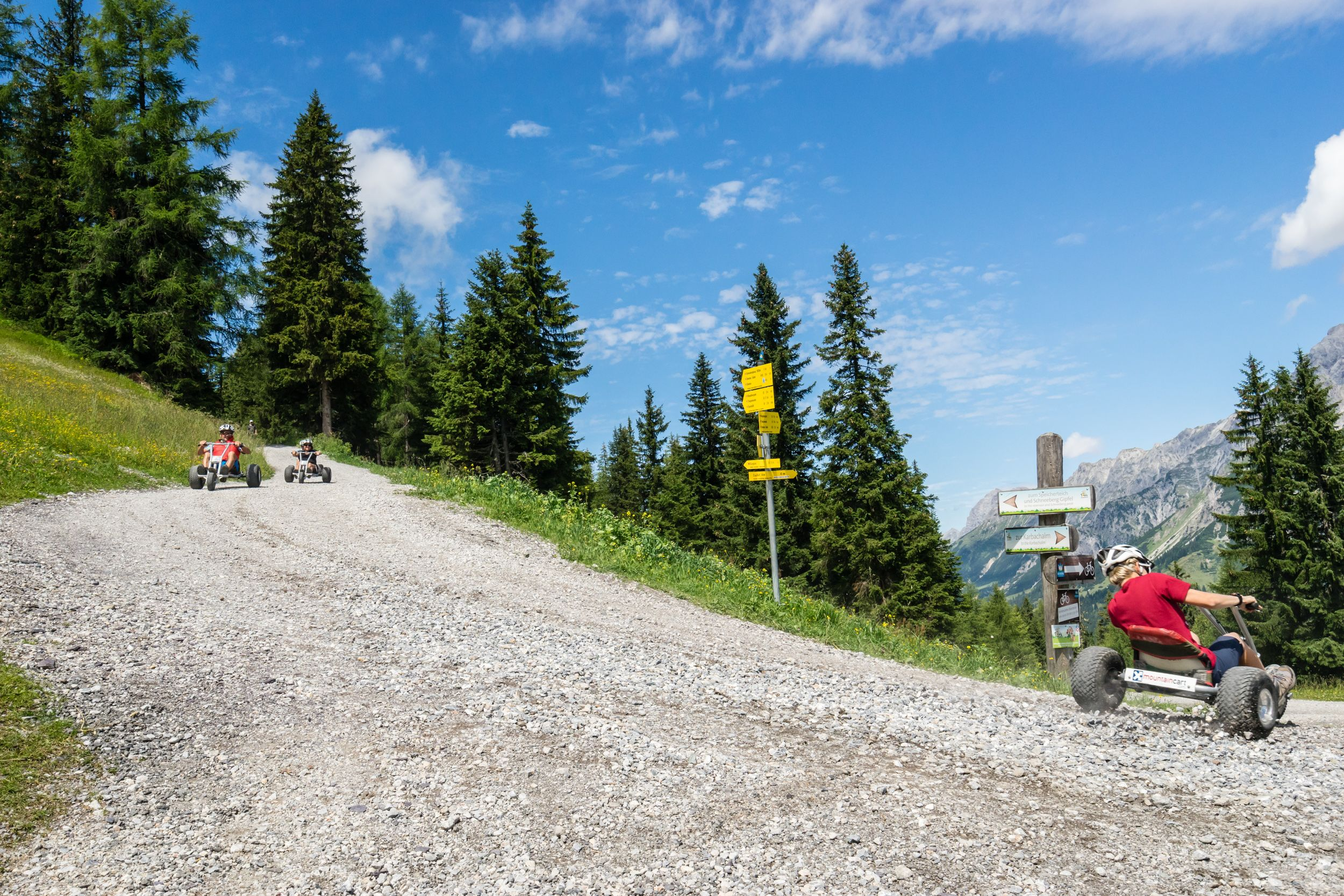 Fahrt mit den Mountaincarts
