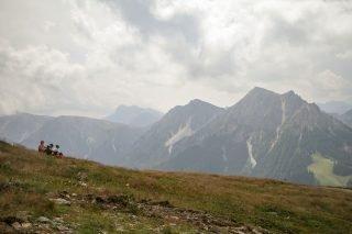 Blick auf die umliegenden Berge vom Kronplatz aus