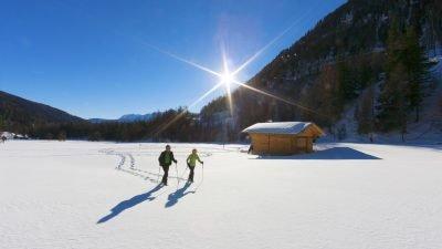 Erlebnishotel Waltershof Schneeschuhe©Tourismusverein Ultental