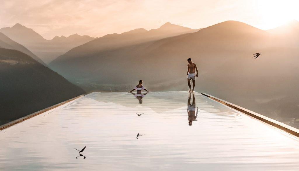 Hotel Hubertus Infinity Pool